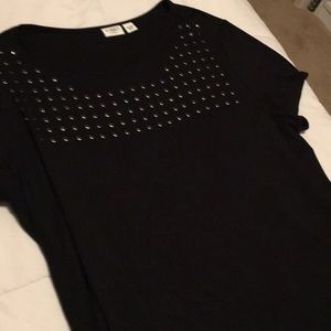 Cato black top with studs